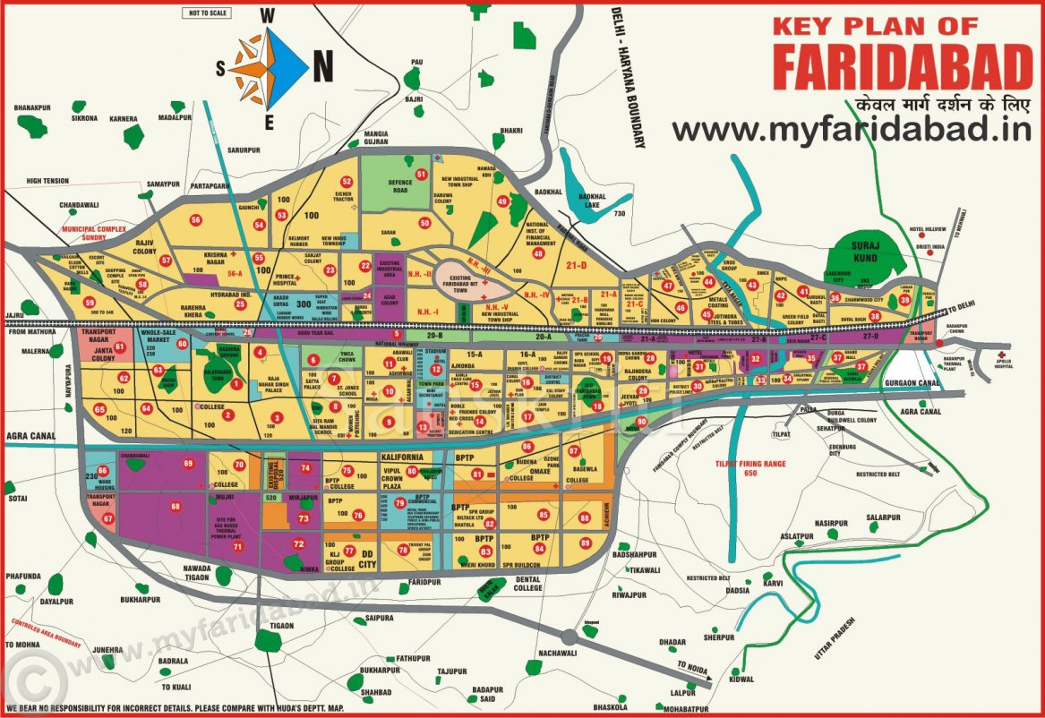 Faridabad Master Plan and Map Sector Wise
