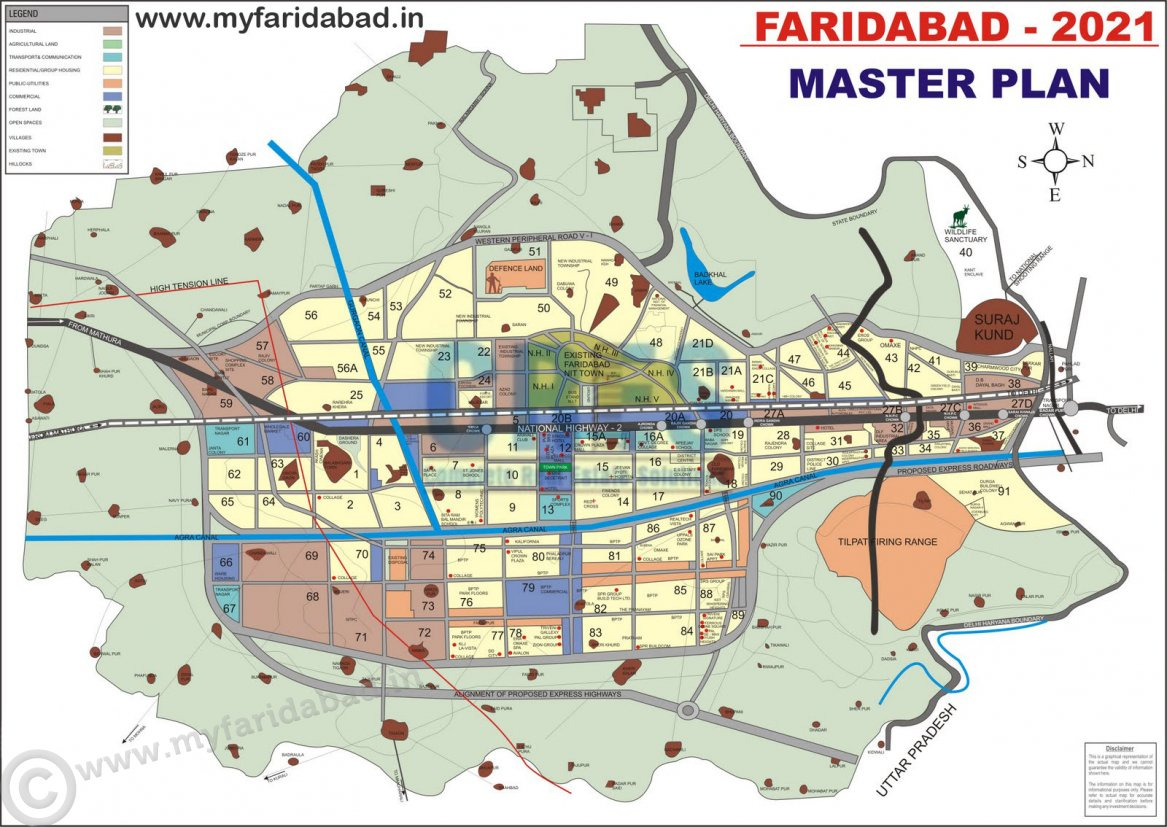 Faridabad Master Plan   Myfaridabad Community Portal